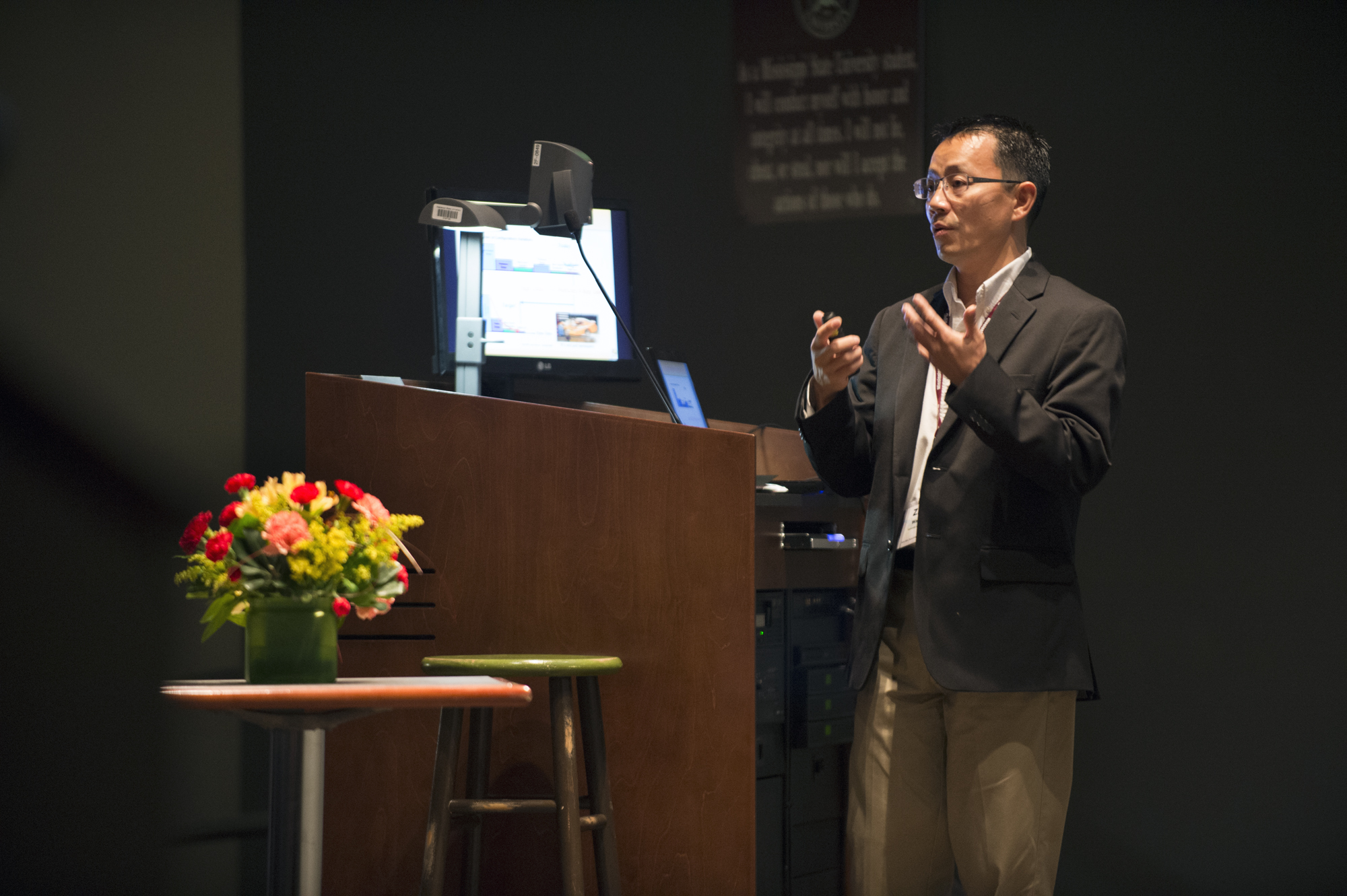 Zhi J. Wang, aerospace engineer from the University of Kansas, presented a paper at Mississippi State University's recent Conference on Differential Equations & Computational Simulations, an interdisciplinary conference for researchers in mathematics, engineering and other scientific fields.
