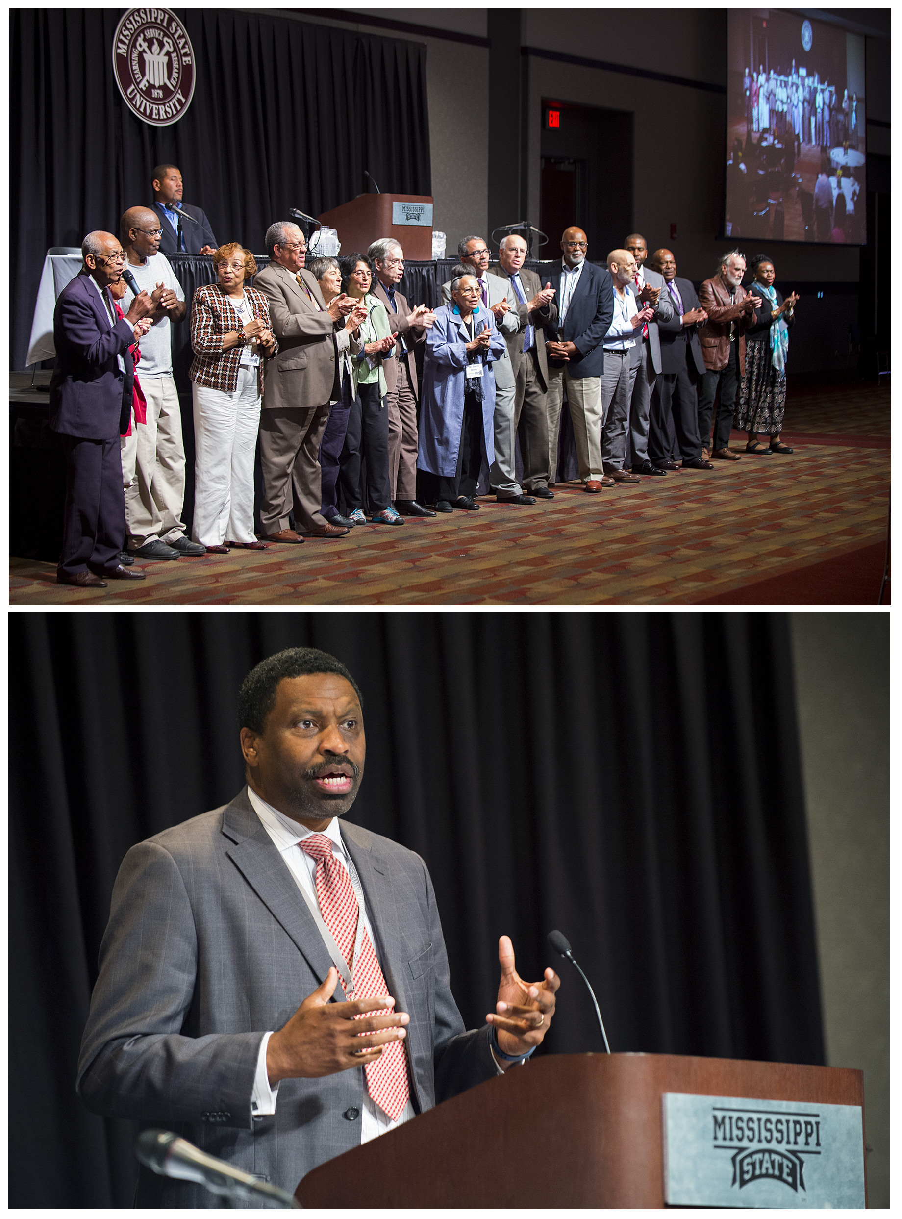 Top: Mississippi State University hosted Freedom Summer activists as part of the celebration of the movement's 50th anniversary at the &quot;Remembering Freedom Summer&quot; conference.<br /> Bottom: Mississippi NAACP President Derrick Johnson emphasized how the lessons of Freedom Summer continue to be relevant even 50 years later.