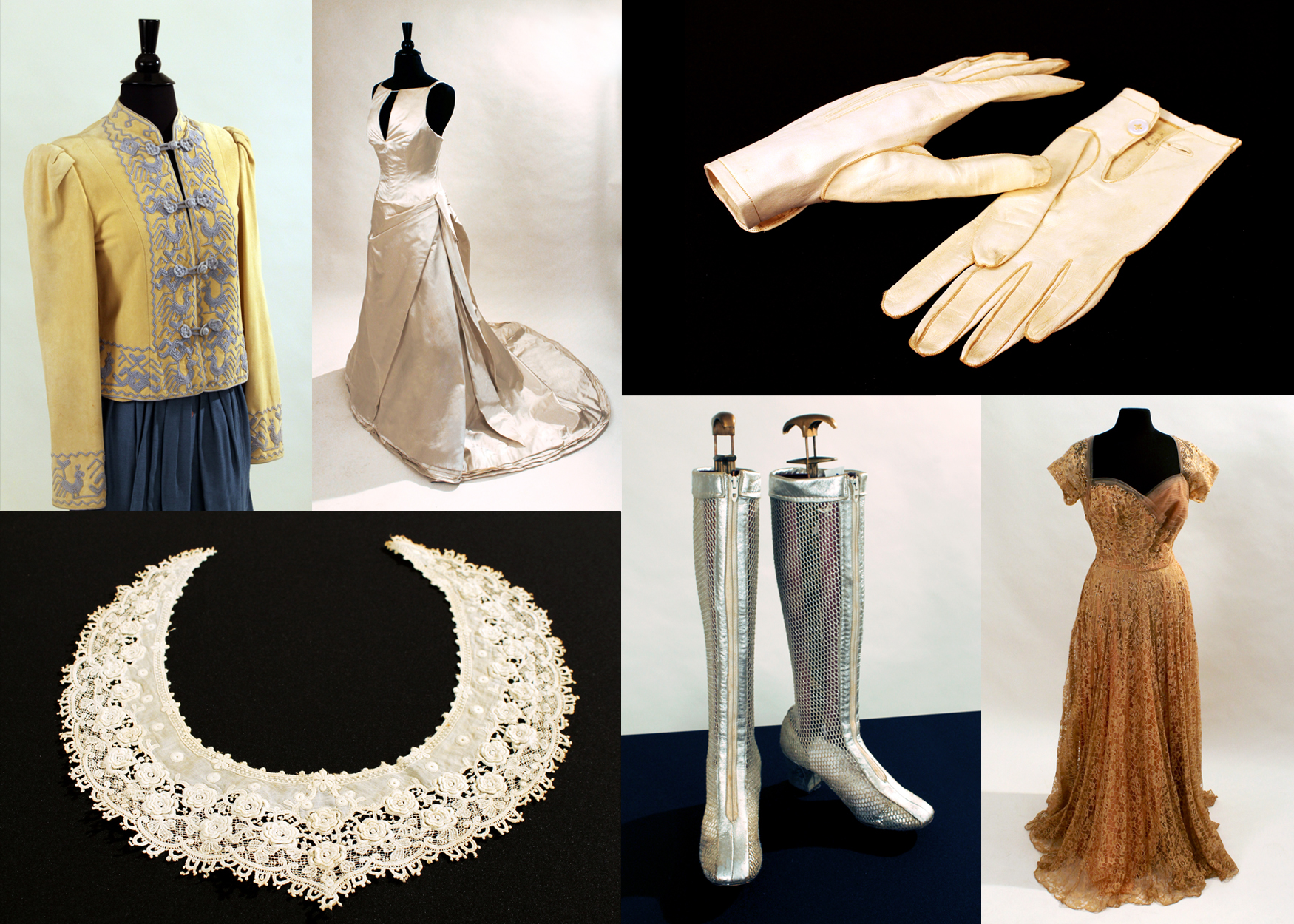 "An elaborately beaded bodice from the 1890s, lace from the early 1900s, a pair of ""space age"" boots from the 1960s, and items by luxury design labels such as Vera Wang, Chanel and Yves Saint Laurent are among the more than 26 pieces that will be available for viewing at the 'Fashion A to Z' exhibit."