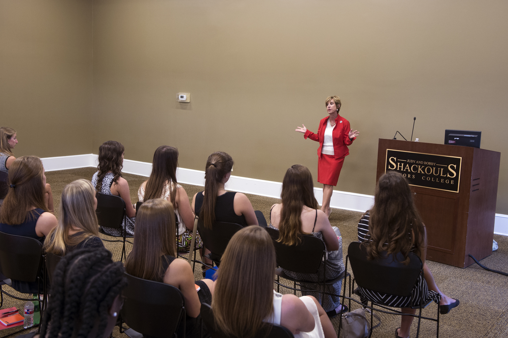 Dean Sharon Oswald of Mississippi State's College of Business is among speakers this week for the university's second Women Empowered Leadership Conference.